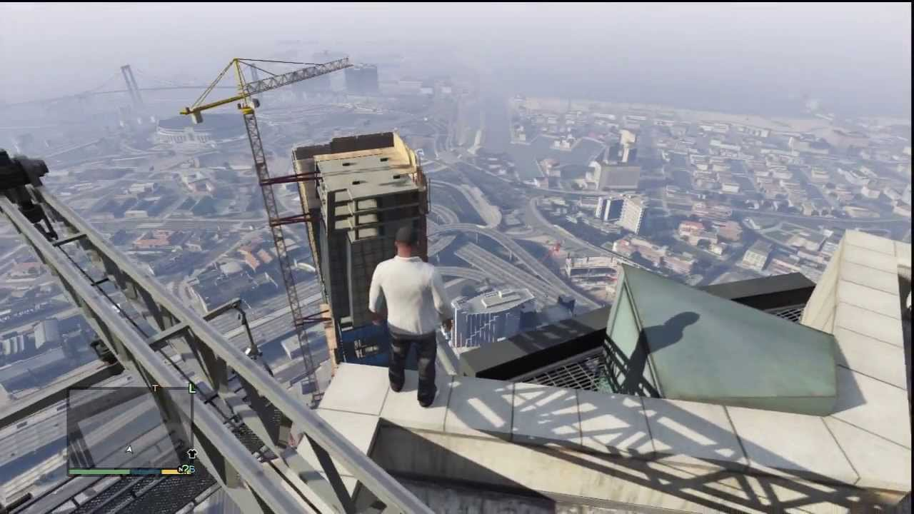 Falling Off A Building Gta 5 Youtube