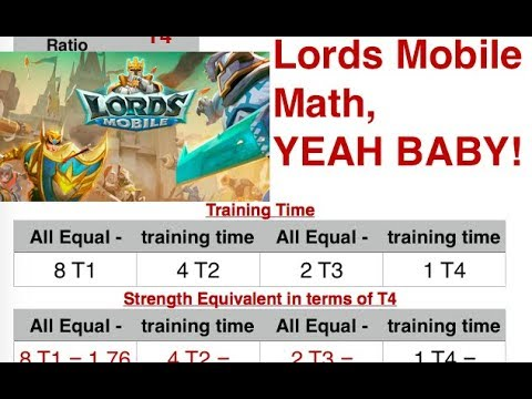 Troop Tier Strength And An Analysis - Lords Mobile Math In 3 Minutes