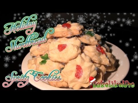 Holiday Shortbread Spritz Cookies Recipe