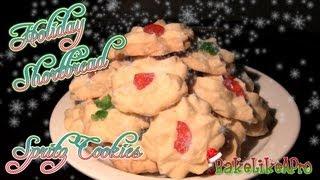 Holiday Shortbread Spritz Cookies Recipe
