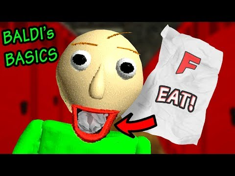BALDI MAKES US EAT OUR HOMEWORK!!! | Baldi's Basics in Education and Learning (Horror Game)