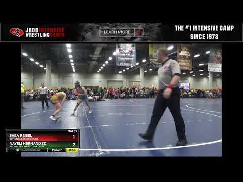 Girls High School  105-113 Shea Reisel Somonauk High School Vs Nayeli Hernandez All-Valley Wrestli