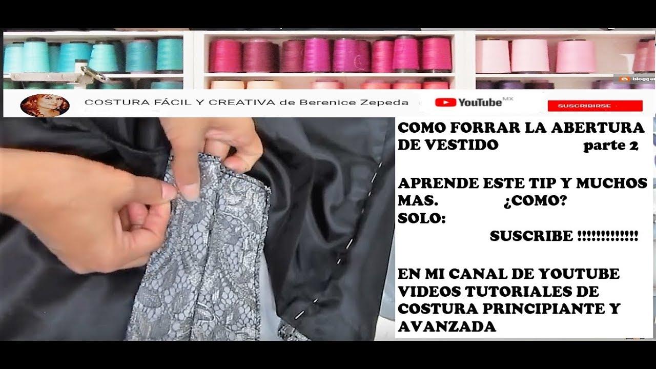 70c8780f34 ABERTURA DE FALDA O VESTIDO CON FORRO-parte 2 - YouTube