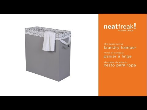 5446 neatfreak Slim Space Saving Laundry Hamper assembly instructions