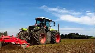 CLAAS Xerion 5000 TRAC + Väderstad TopDown 600