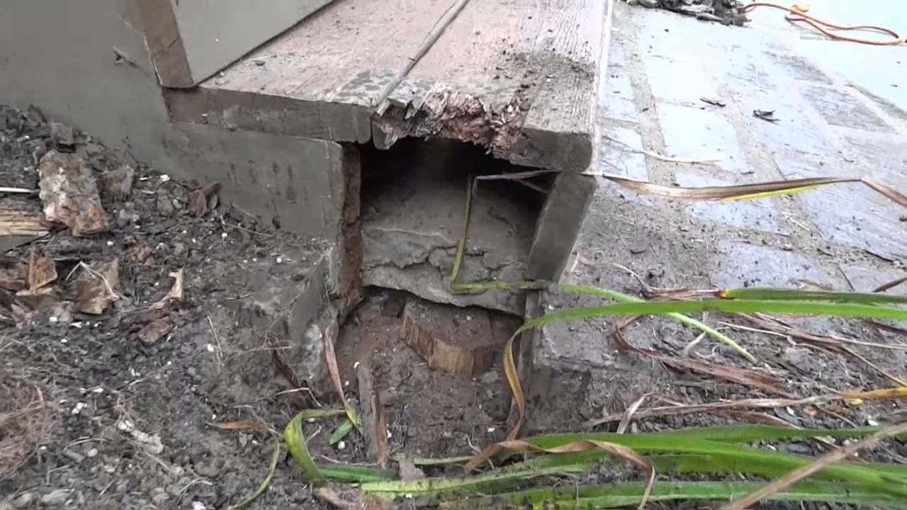 How To Repair A Porch Install Deck Post Replace Wood Rot