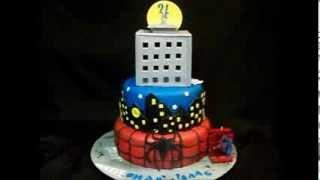 Spiderman Cake with LIGHTS - Kosmic Custom Cakes