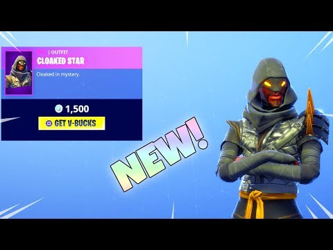 new stw skin is here cloaked star new item shop fortnite battle royale - fortnite cloaked star back bling