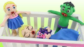 Video FROZEN ELSA FALLS ASLEEP IN A CRIB 💗 Bad Baby Elsa Frozen & Hulk Play Doh Cartoon Stop Motion download MP3, 3GP, MP4, WEBM, AVI, FLV Oktober 2017