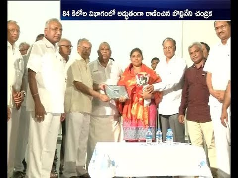 Mangalagiri's Chandrika Wins Gold   in Commonwealth Power Lifting   South Africa