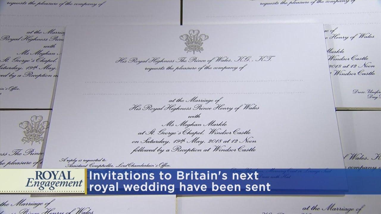 Heres The Royal Wedding Invitation YouTube