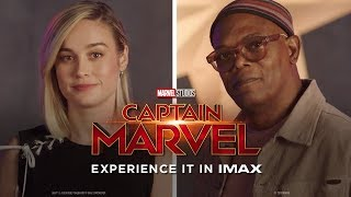 A Message from Brie Larson & Samuel L. Jackson | Experience Captain Marvel in IMAX® Theatres