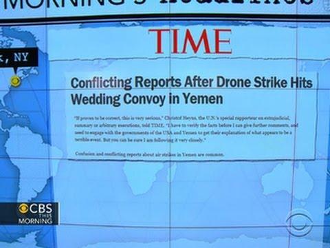 Headlines: U.S. drone strike hit a wedding convoy in Yemen