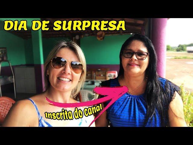 HOJE FOI DIA DE SURPRESA PARA UMA INSCRITA DO CANAL