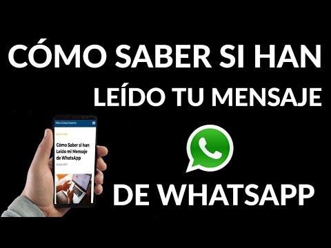 Cómo Saber si han Leído tu Mensaje de WhatsApp