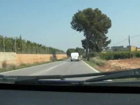 Road from Monserrat to Valencia city, Spain, March 2012