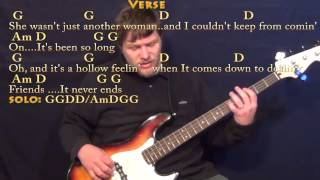 Tequila Sunrise (Eagles) Bass Guitar Cover Lesson with Chords/Lyrics