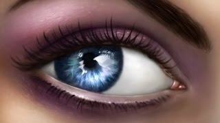 How to Paint a Realistic Eye in Photoshop - Narrated