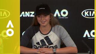 Jelena Ostapenko press conference (1R) | Australian Open 2018