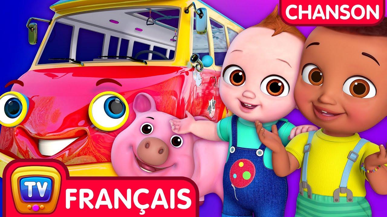 Les Roues du Bus avec les animaux de la ferme (Wheels on the Bus) - ChuChu TV Comptines et Chansons