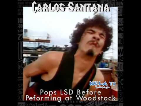 Carlos Santana Pops LSD at WoodStock