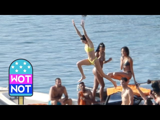 Kendall Jenner Leaps Off Boat In THAT Yellow Bikini While Having A Blast With Girlfriends in Greece