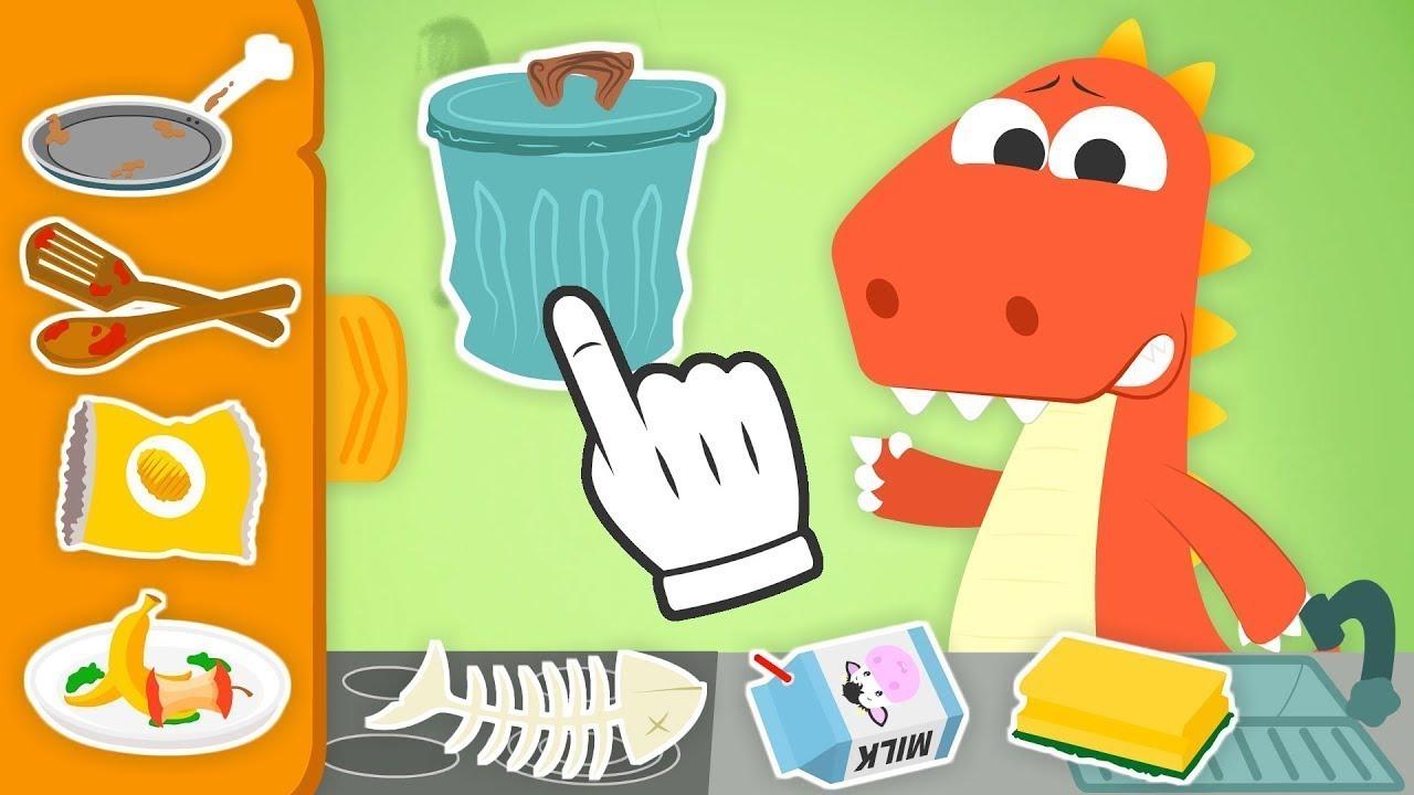 Aprende Con Eddie A Limpiar La Cocina Eddie El Dinosaurio