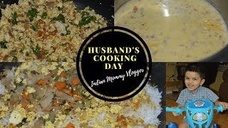 DIML Vlog:Husband's Experimental Cooking- Dum Biryani| Indian Mommy Vlogger In USA |Real Homemaking