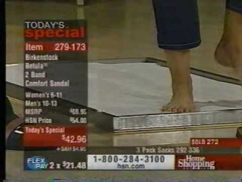 Michelle Anne Boudreau Home Shopping Network walks on sand bed shows feet and toes