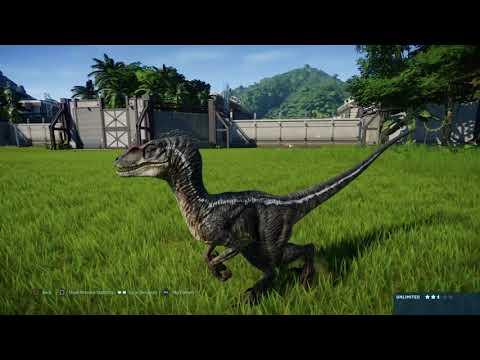 Jurassic World Evolution: JP3 Velociraptor vs Compsognathus pack |