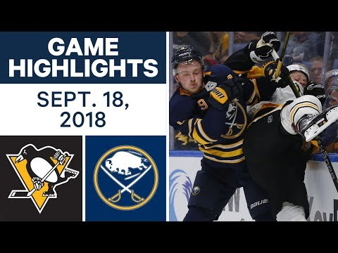 NHL Pre-season Highlights | Penguins vs. Sabres - Sept. 18, 2018