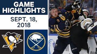 NHL Pre-season Highlights | Penguins vs. Sabres - Sept. 18, 2018