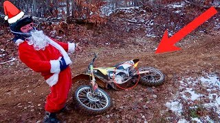 SANTA SHREDS HIS DIRT BIKE!!! HE DESTROYED IT...