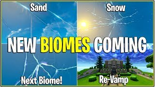 *NEW* Fortnite: NEW BIOMES COMING IN SEASON 5! | (Cracks Will Create New Weather Type/POI)