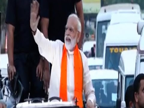 PM Modi holds Bhubaneswar roadshow amid 'Modi-Modi' chants