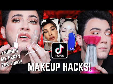 TESTING VIRAL TIK TOK MAKEUP HACKS... Powder BEFORE Foundation?! FAIL