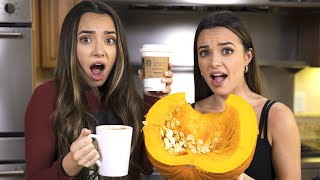 Making Pumpkin Spice Latte's with Real Pumpkin - Merrell Twins