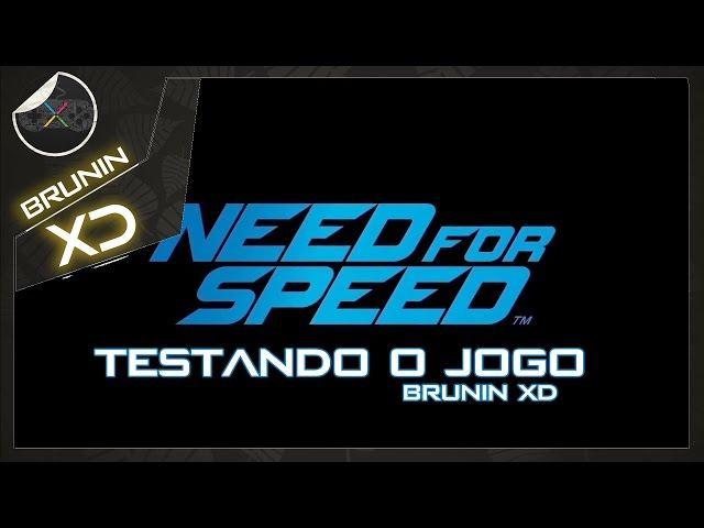 Need for Speed - Testando o jogo