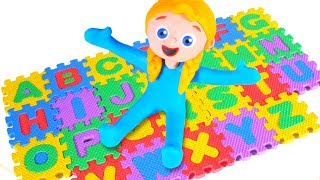 SUPERHERO BABIES LEARN ABC ❤ SUPERHERO PLAY DOH CARTOONS FOR KIDS