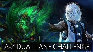 Dota 2 A-Z Dual Lane Challenge - Wraith King and Zeus