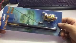 Đập Hộp cần câu cá hình cây bút bi bằng hợp kim nhôm giá 105k
