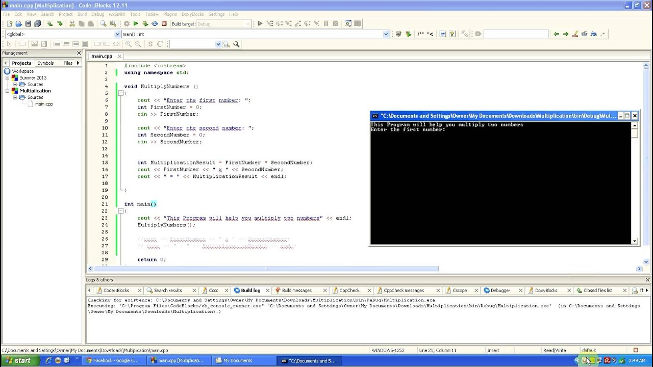 How to create multiplication program in c using void cin cout how to create multiplication program in c using void cin cout int youtube gamestrikefo Choice Image