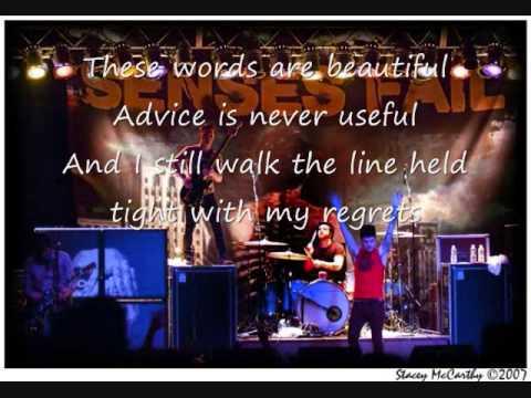Senses Fail - Ali For Cody (with Lyrics)