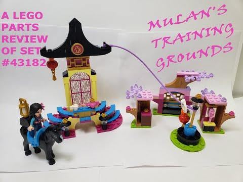 LEGO 2020 DISNEY PARTS REVIEW! Mulan's Training Grounds! Lego set #43182