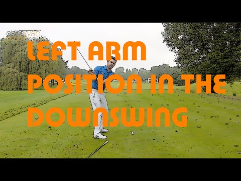 LEFT ARM POSITION IN THE DOWNSWING