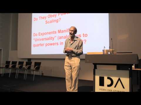 Geoffrey West on COMPLEXITY