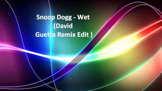 Snoop Dogg - Wet (David Guetta Remix Edit) 1080 HD + free download