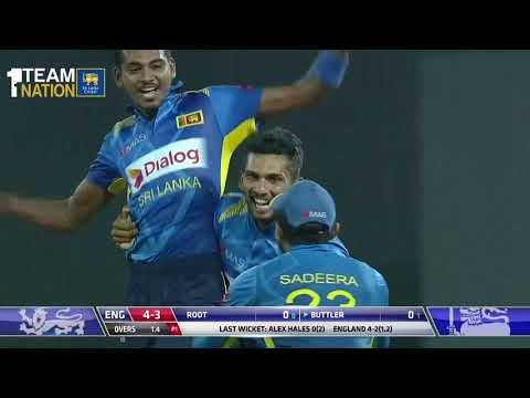 Sri Lanka beat England by 219 runs - 5th ODI Highlights
