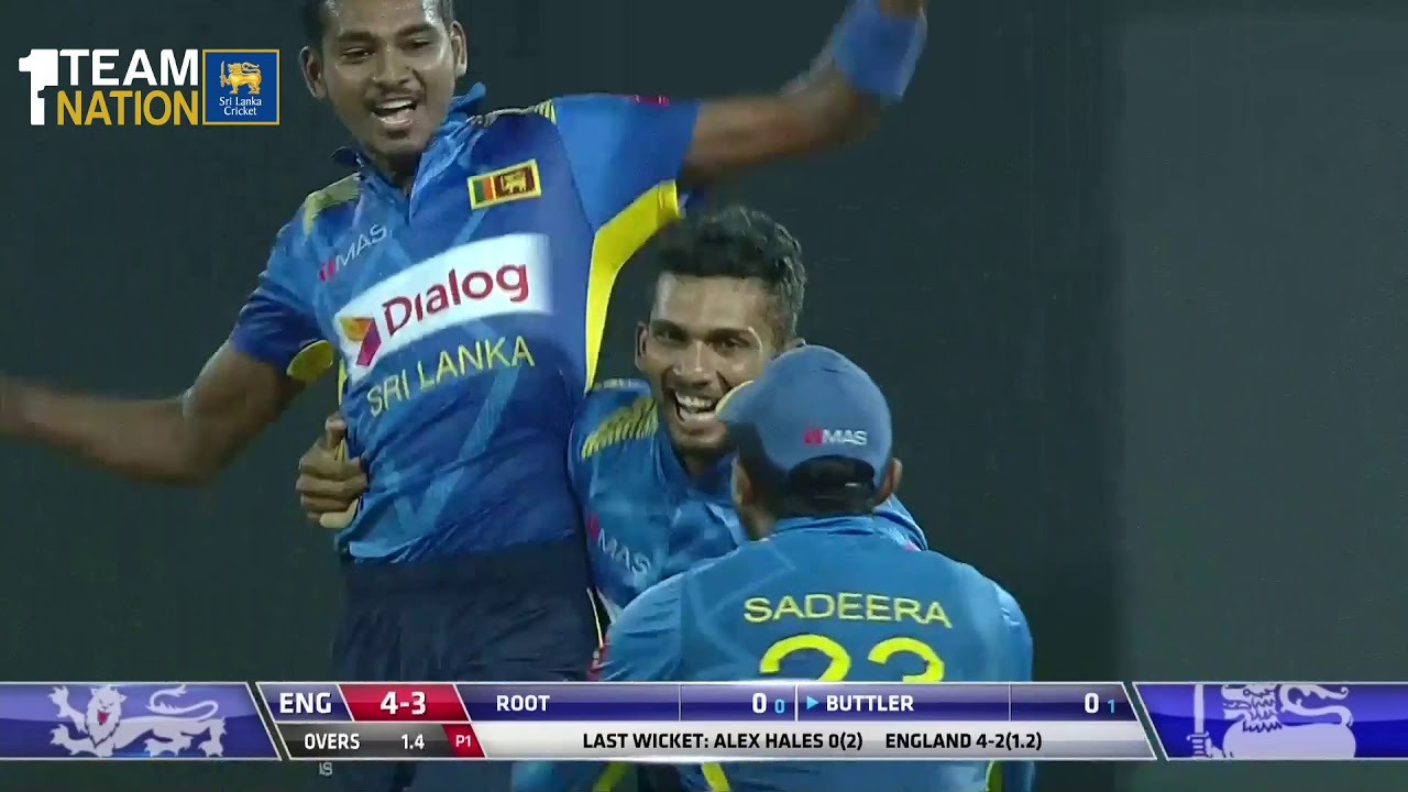 Sri Lanka beat England by 219 runs - 5th ODI Highlights