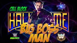 WWE/WWF | Big Boss Man | Cell Block | Theme Songs 2016 AE (Arena Effects)